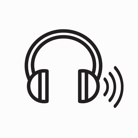 Headphones for ear screening test concept illustration. Illustration