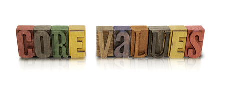 Core Values Wood Block Letter Set