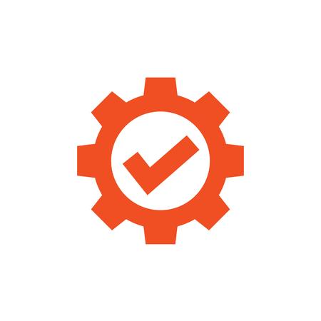 Im Compliance-Icon-Set, das anzeigt, dass ein Unternehmen die Prüfung bestanden hat Vektorgrafik