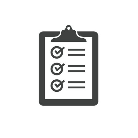 In compliance icon set that shows a company passed inspection Ilustracja