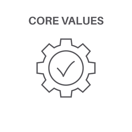 Core Values with Social Responsibility Image - Business Ethics & Trust 向量圖像