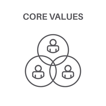 Core Values with Social Responsibility Image for  Business Ethics