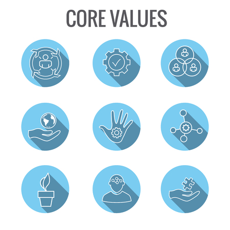 Core Values with Social Responsibility Image - Business Ethics & Trust Illustration