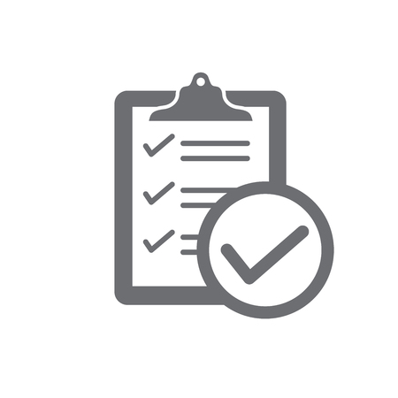 In compliance icon set that shows a company passed inspection Vectores