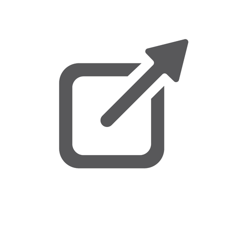 External Link Icon w Arrow and Box for leaving site Illustration