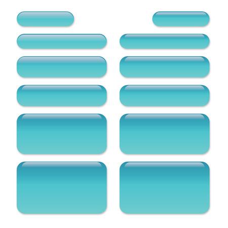 Chat Message Bubbles with Glass-like appearance - SMS conversation Illusztráció