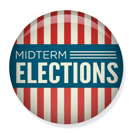Retro Midterm Elections Vote & Election Pin Button / Badge