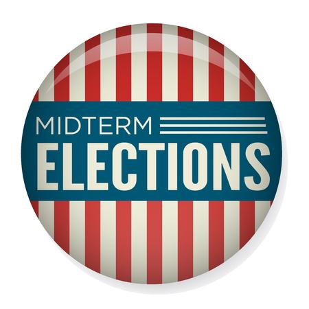 Retro Midterm Elections Vote & Election Pin Button / Badge