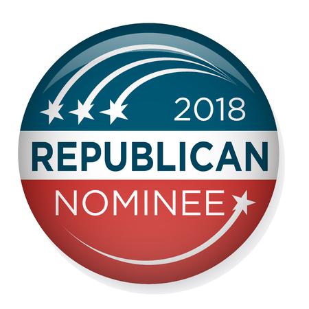 Retro Vote or Election Pin Button  Badge