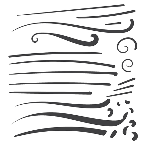 Hand Drawn Black squiggle swoosh text font tail for baseball tshirt design w calligraphy swirl Stock fotó - 95093366