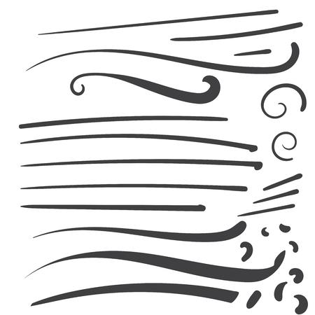 Hand gezeichneter schwarzer Squiggleswooshtext-Gussendstück für Baseballt-shirt Entwurf w-Kalligraphiestrudel