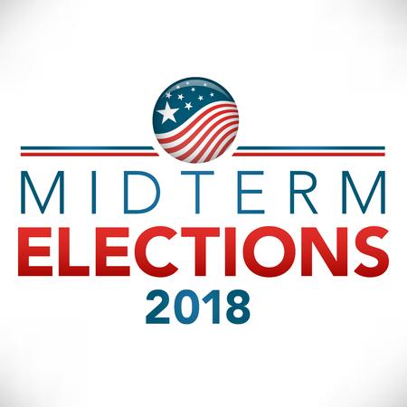 Election header banner design template
