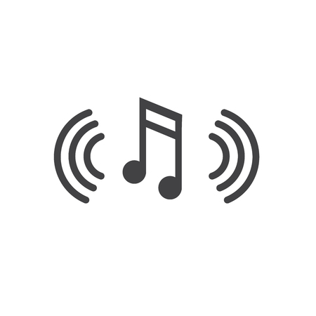 Musical Note with Sound Wave Icon