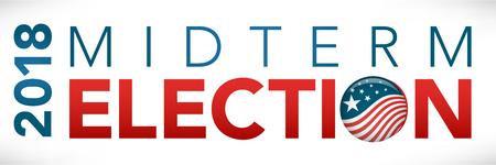 Election header banner w/ Vote  Ilustracja