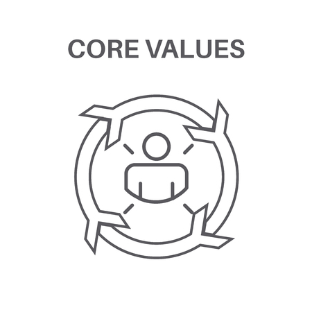 Core Values w Social Responsibility Image - Business Ethics and Trust