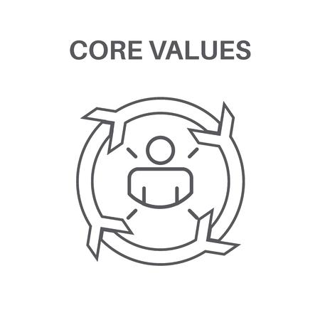 Kernwerte w Social Responsibility Business - Business Ethik und Vertrauen Standard-Bild - 96312584