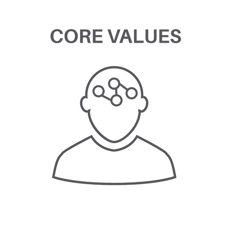 Core values with social responsibility image, business ethics and trust. Illustration