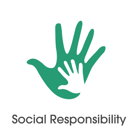 Social Responsibility Solid Icon Set with Honesty, integrity, collaboration, etc