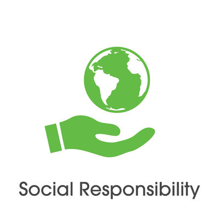 Social Responsibility Solid Icon Set with Honesty, integrity, collaboration, etc Banco de Imagens - 98317930