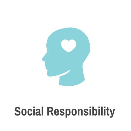 Conjunto de iconos sólidos de responsabilidad social con honestidad, integridad, colaboración, etc. Foto de archivo - 98804297