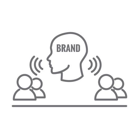 대변인 아이콘-마케팅 위치 네트워크에있는 사람과 다른 사람과 협력