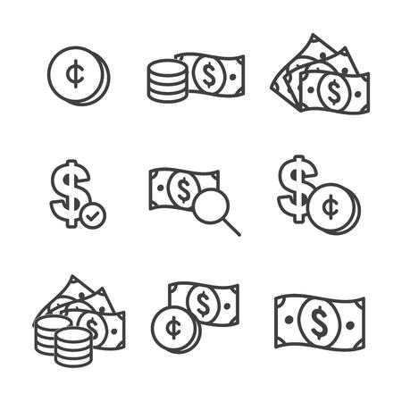 Currency Circulation or money exchange rate icon  dollar bill Vector illustration. Reklamní fotografie - 99748626