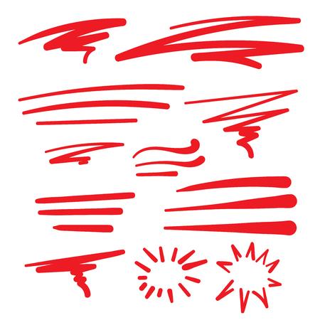 Machnięcia, znaki kaligraficzne, Swooshes dla Retro T-shirt Word Art Typografia ilustracji wektorowych. Ilustracje wektorowe