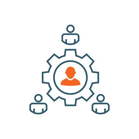 Spokesperson icon - person in marketing position networks and coordinates with others Foto de archivo - 100358035