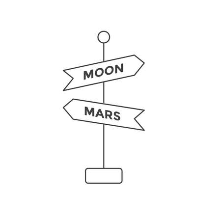 Space Travel icons with Signs - Tour to Outer Space Ilustrace