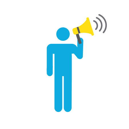 Spokesperson icon - person in marketing position networks and coordinates with others Foto de archivo - 101246647