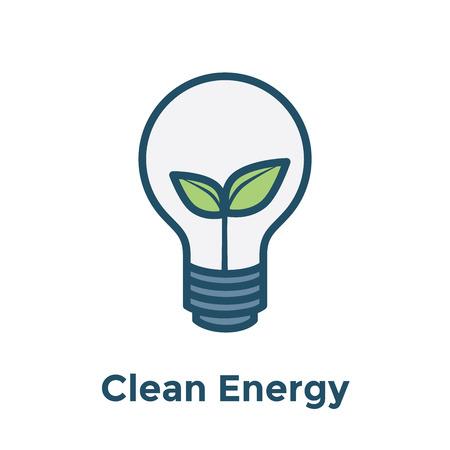 Green Energy icon illustrating recyclable lightbulb / clean energy solution Reklamní fotografie - 101246653