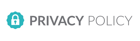 Privacy Policy graphic used for Header banner or web page w icon symbol