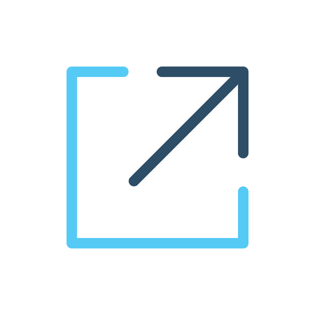 External Link Icon w Arrow & Box where You Know You're going to be leaving a website  イラスト・ベクター素材