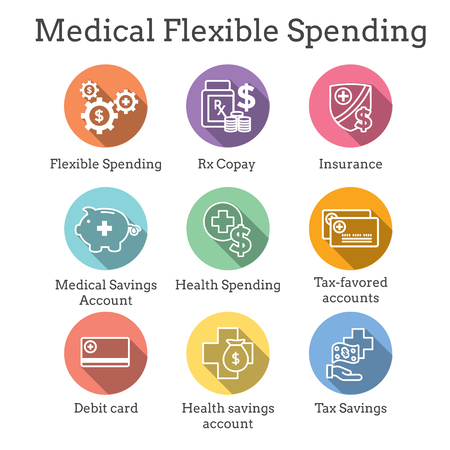 Medical Tax Savings w Health savings account or flexible spending account - HSA, FSA, tax-sheltered savings Standard-Bild - 113541649