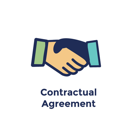New Employee Hiring Process icon with Handshake for contract agreement