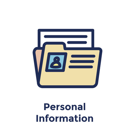 New Employee Hiring Process icon w personal info folder