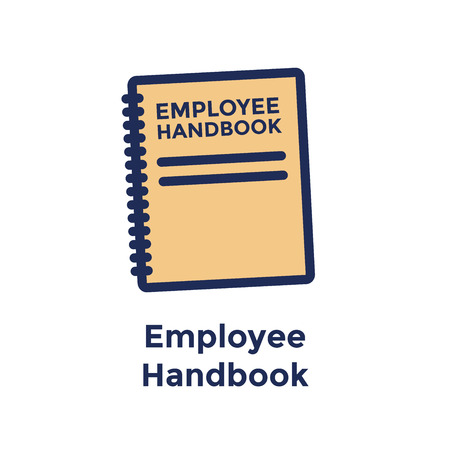 New Employee Hiring Process icon w Employee Handbook