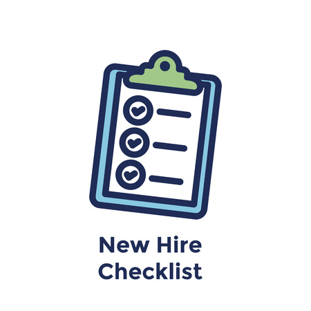 New Employee Hiring Process icon w checklist