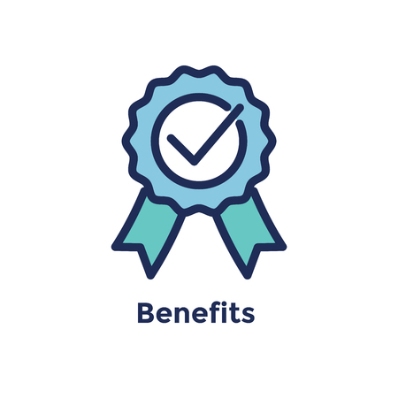 New Employee Hiring Process icon w benefits ribbon Stok Fotoğraf - 111513487