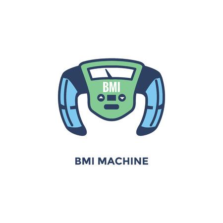 BMI - Body Mass Index Icon - BMI Machine - green and blue  イラスト・ベクター素材