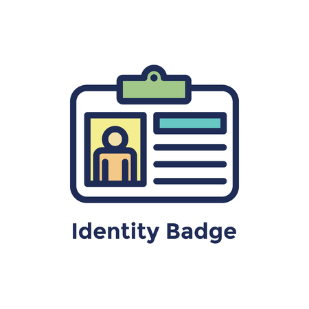 New Employee Hiring Process icon w identity badge
