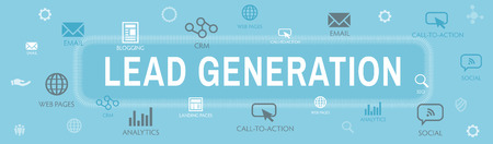 Lead Generation Web Header Banner that Attracts leads - target audience to increase revenue growth and sales Vector Illustration