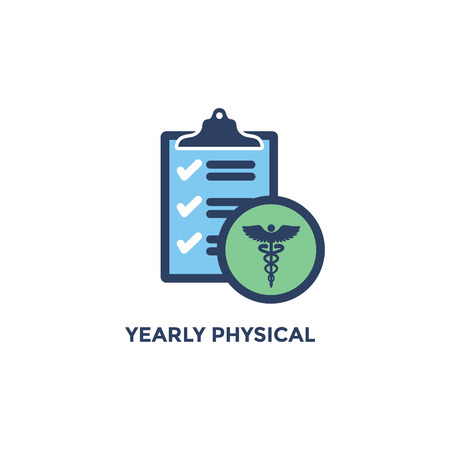 BMI - Body Mass Index Icon - Yearly Physical checklist - green and blue