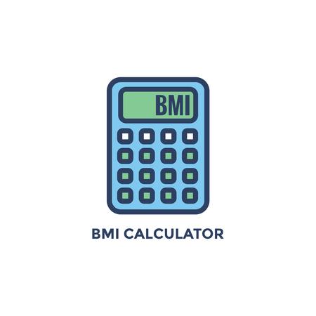 BMI - Body Mass Index Icon - BMI Calculator - green and blue 向量圖像