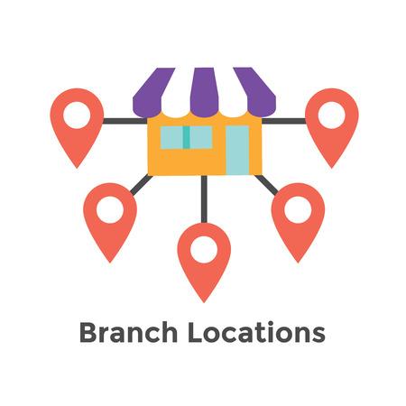 Icona di franchising con Home Office, sede aziendale - Immagini icona di franchisee