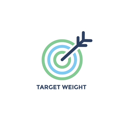 BMI - Body Mass Index Icon - Target Weight image - green and blue