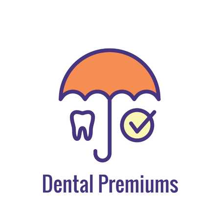 Dental Insurance Outline Icon with tooth image