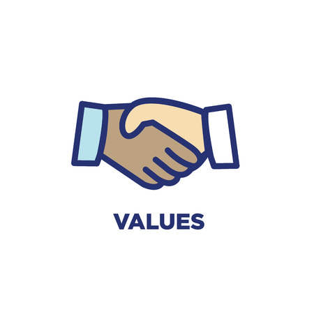 Core Values Outline - Line Icon Conveying Specific Purpose