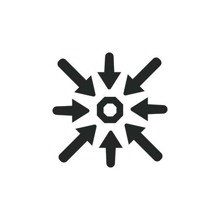 Specific Icon \ Showing Choice: Specific keywords Idea Vettoriali