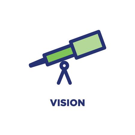 Contorno dei valori fondamentali - Icona della linea che trasmette uno scopo specifico Vettoriali
